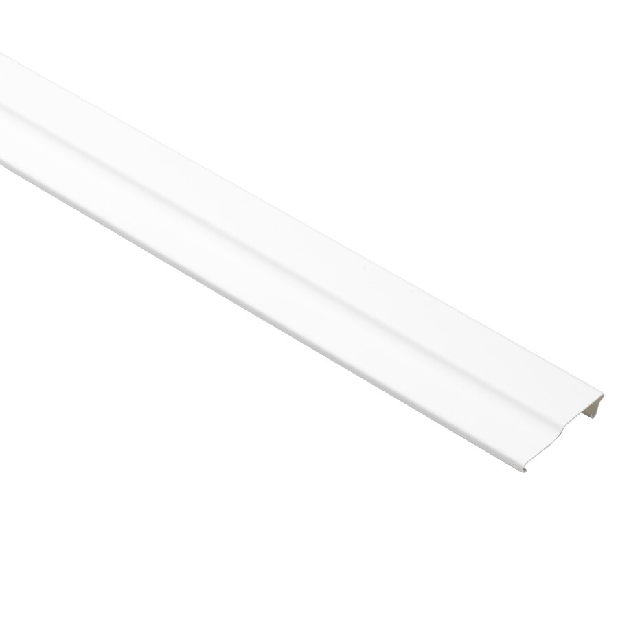 Durabuilt 3-in x 150-in White Crown Face Plate Vinyl Siding Trim