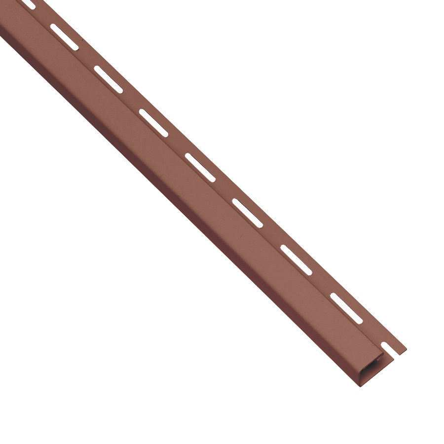 Durabuilt 0.625-in x 150-in Red J-Channel Vinyl Siding Trim