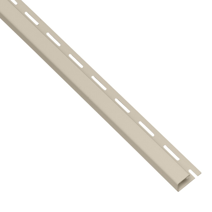 0.875-in x 150-in Tan J-Channel Vinyl Siding Trim