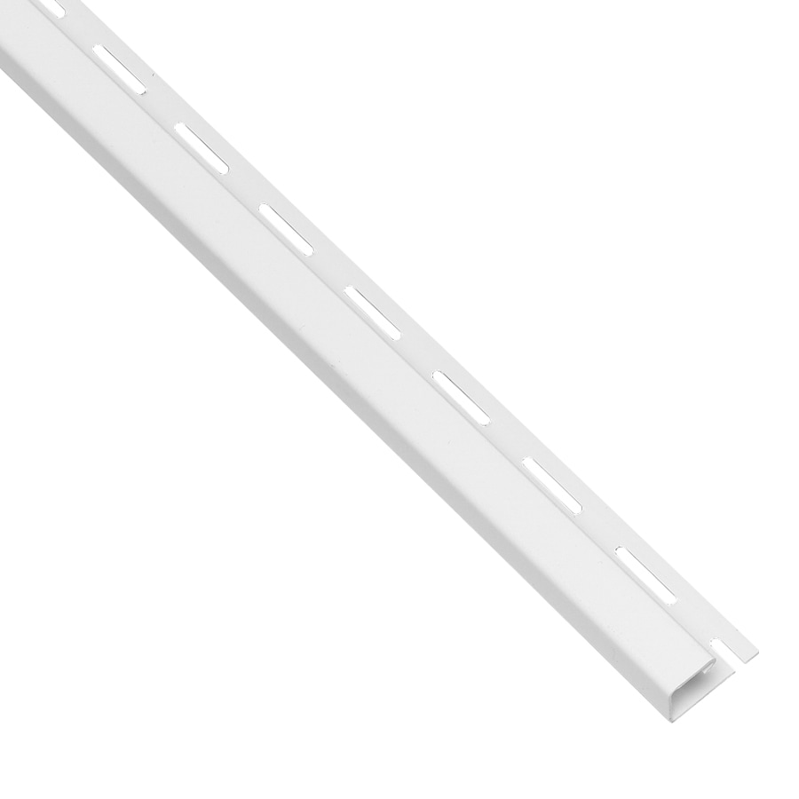 0.875-in x 150-in White J-Channel Vinyl Siding Trim