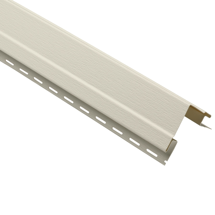 Durabuilt 4-in x 120-in Almond Outside Corner Post Vinyl Siding Trim