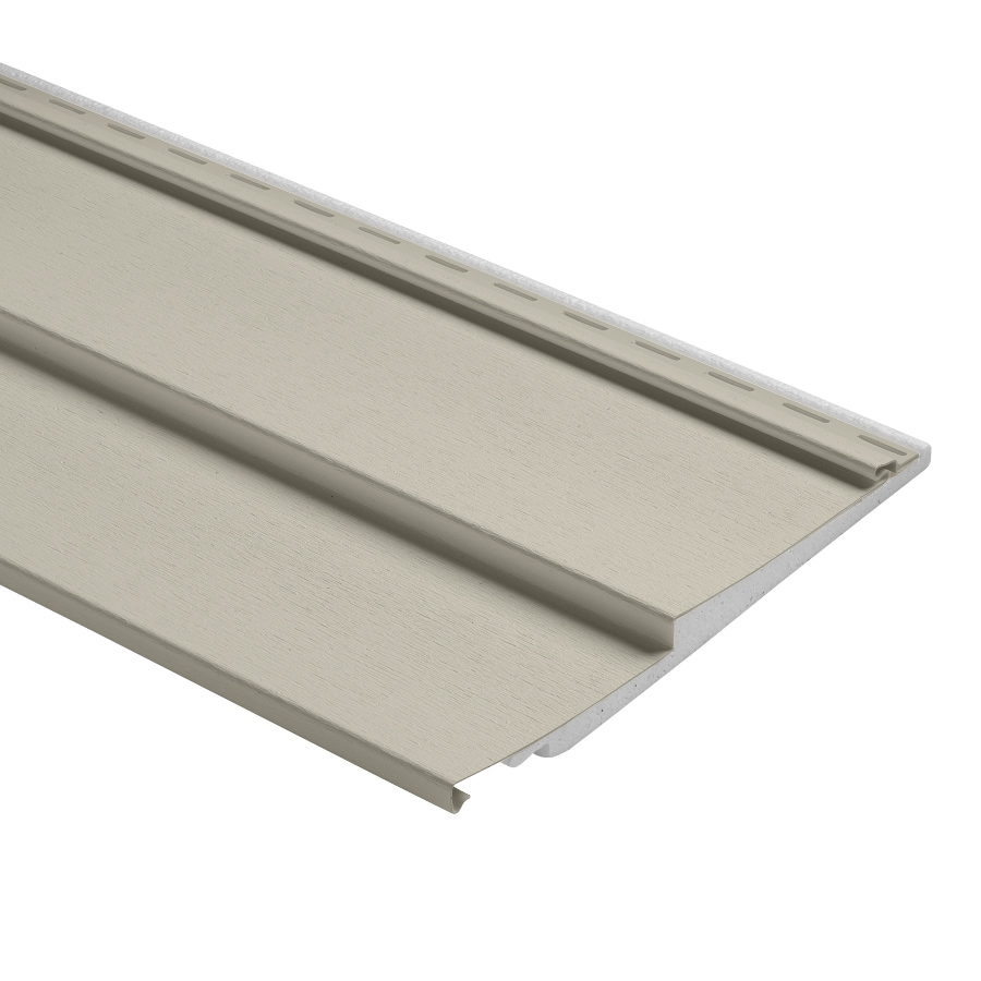 Durabuilt 800 Vinyl Siding Panel Double 6 Traditional Almond 12-in x 150-in