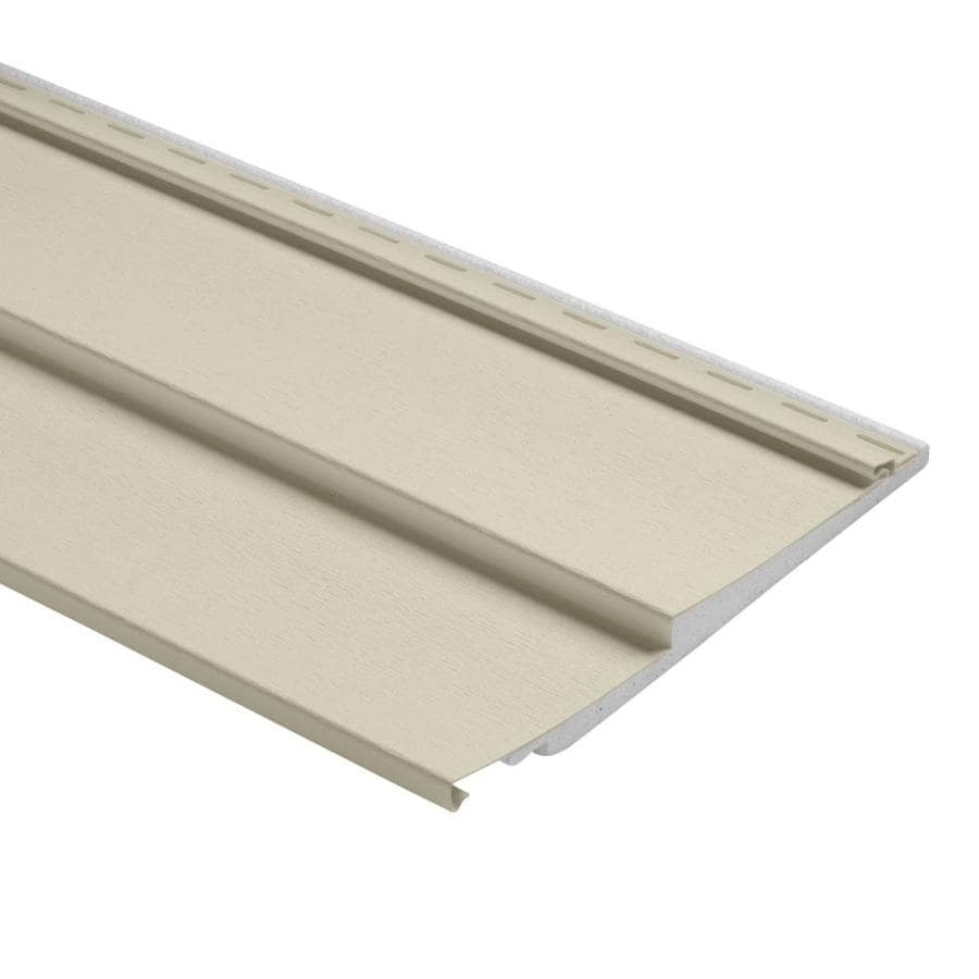 Durabuilt Traditional Cream Vinyl Siding Panel 12-in x 150-in
