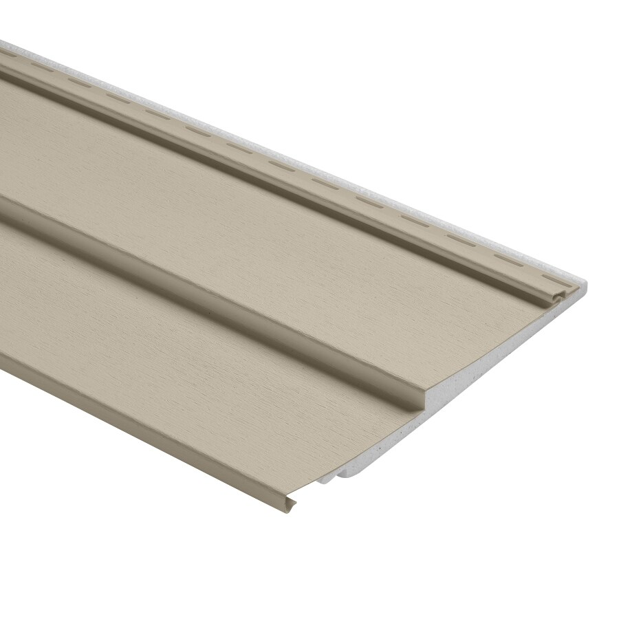 Durabuilt 800 Vinyl Siding Panel Double 6 Traditional Tan 12-in x 150-in