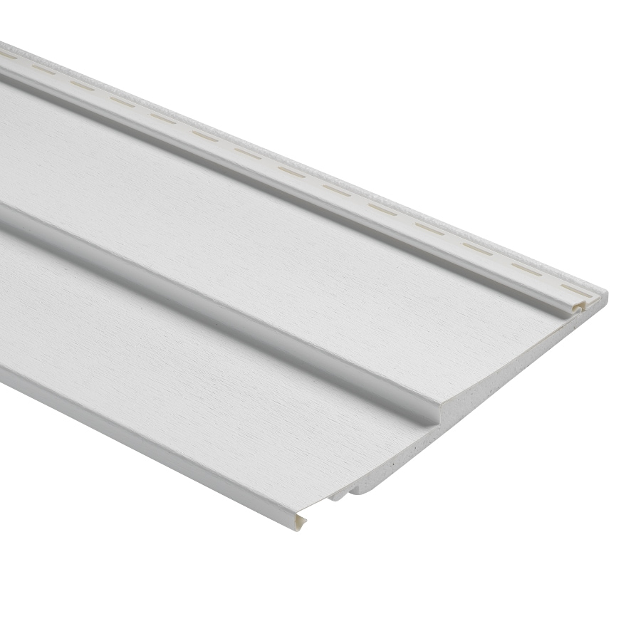 Durabuilt Traditional White Vinyl Siding Panel 12-in x 150-in