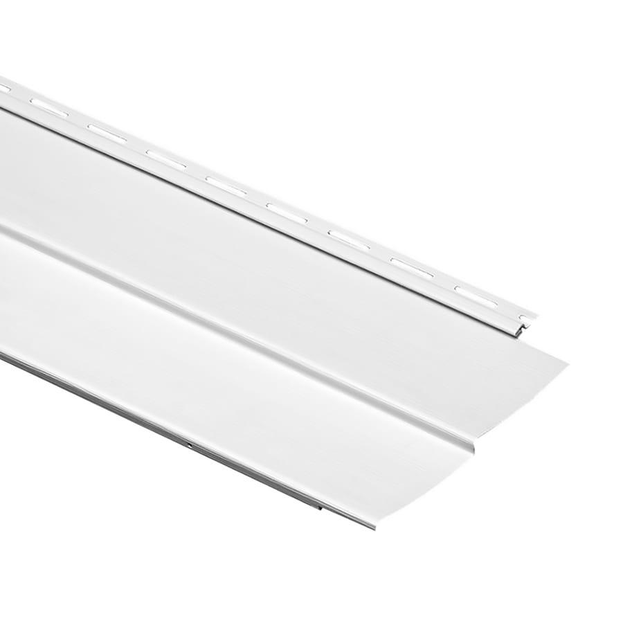 Durabuilt Traditional White Vinyl Siding Panel 8-in x 150-in
