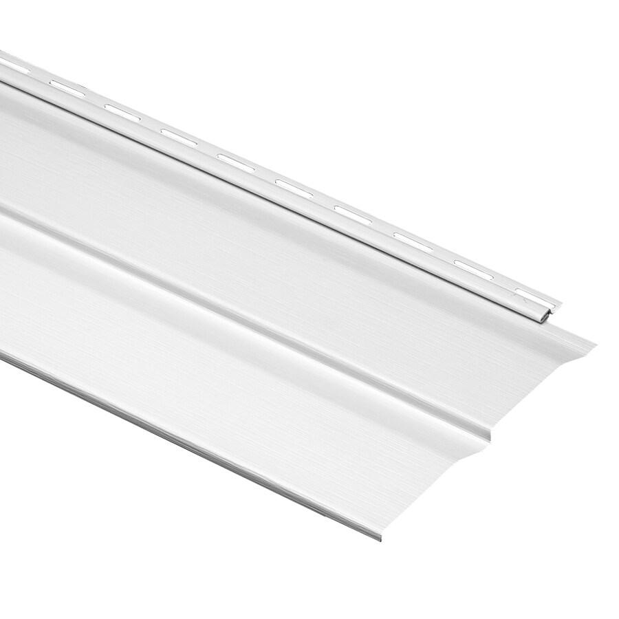 Durabuilt Dutch Lap White Vinyl Siding Panel 9-in x 145-in