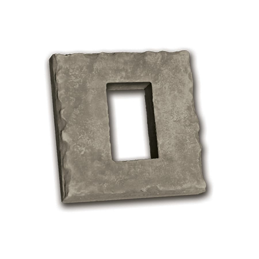 Ply Gem Stone 2-in x 8-in Cream Receptacle Boxes Stone Veneer Trim