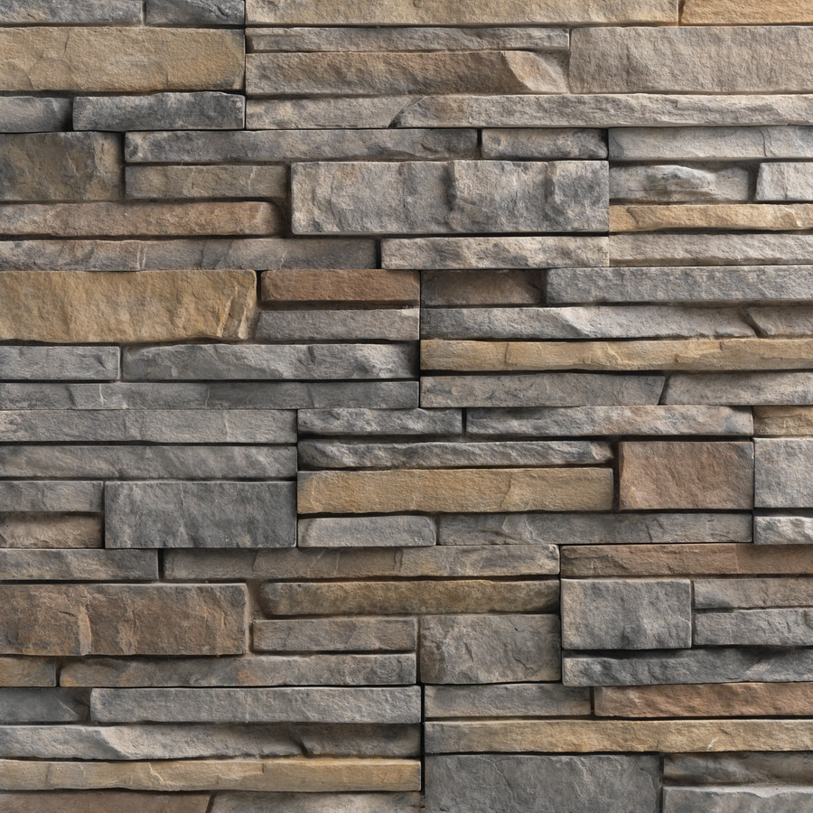 Stacked Stone Home Exterior: Shop Ply Gem Stone True Stack 10-sq Ft Calgary Faux Stone