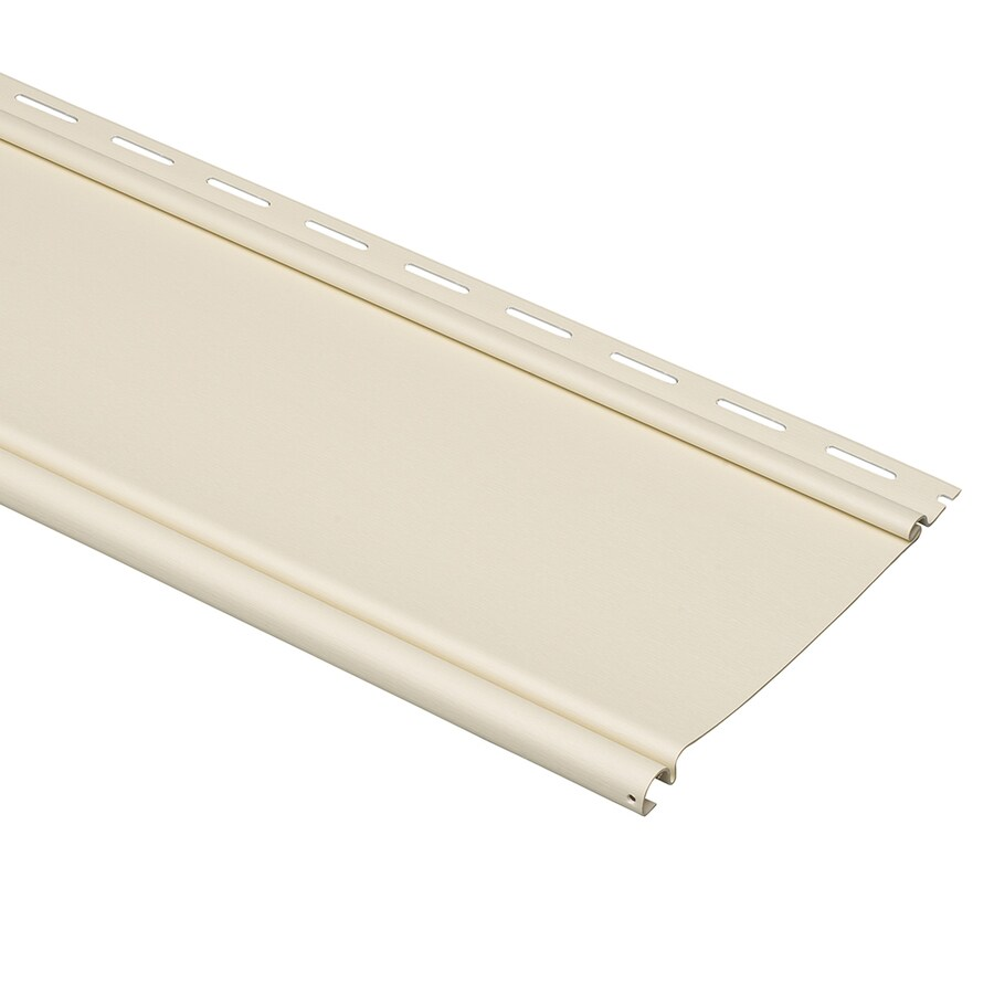 Durabuilt Beaded Cream Vinyl Siding Panel 6.5-in x 148-in
