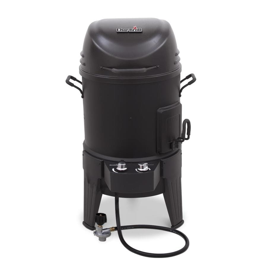 Char-Broil Big Easy 20-lb Cylinder Piezo Ignition Gas Vertical Smoker (Common: 36-in; Actual: 36.2-in)