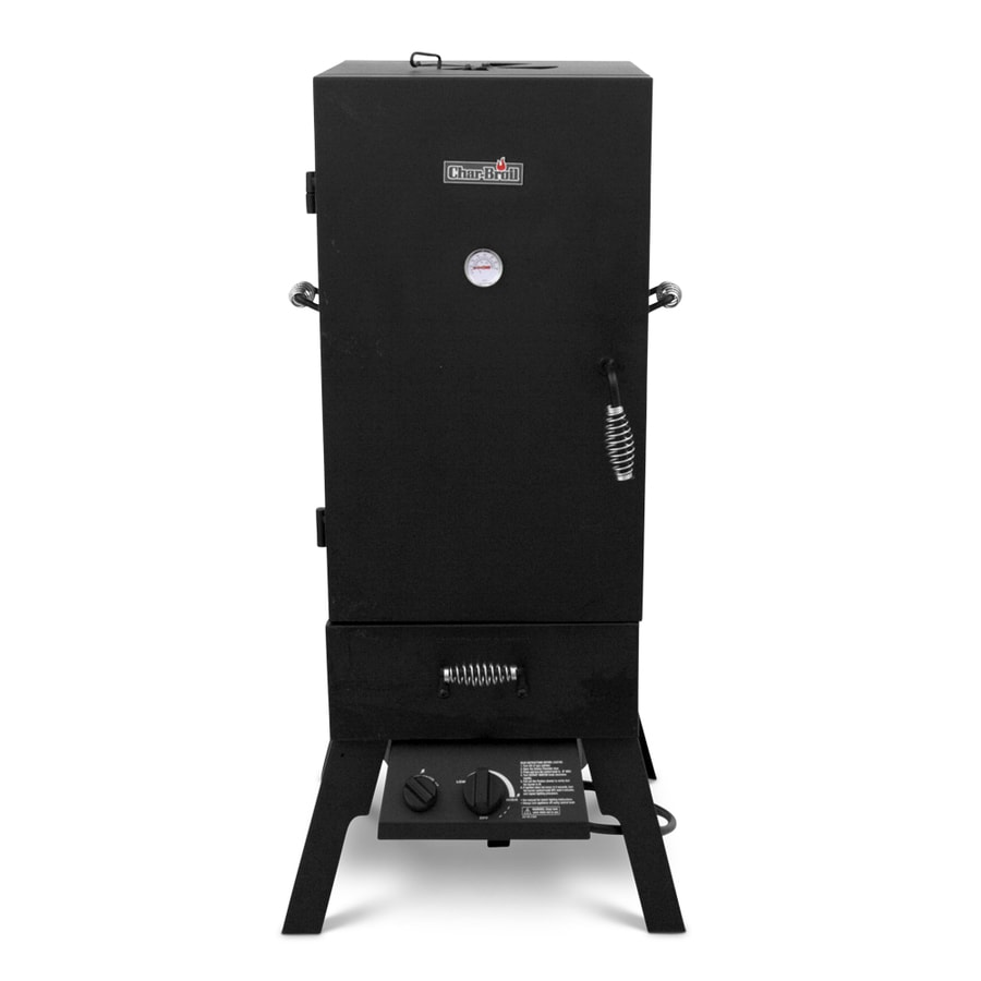 Char-Broil 20-lb Cylinder Push and Turn Ignition Gas Vertical Smoker (Common: 45.5-in; Actual: 45.5-in)