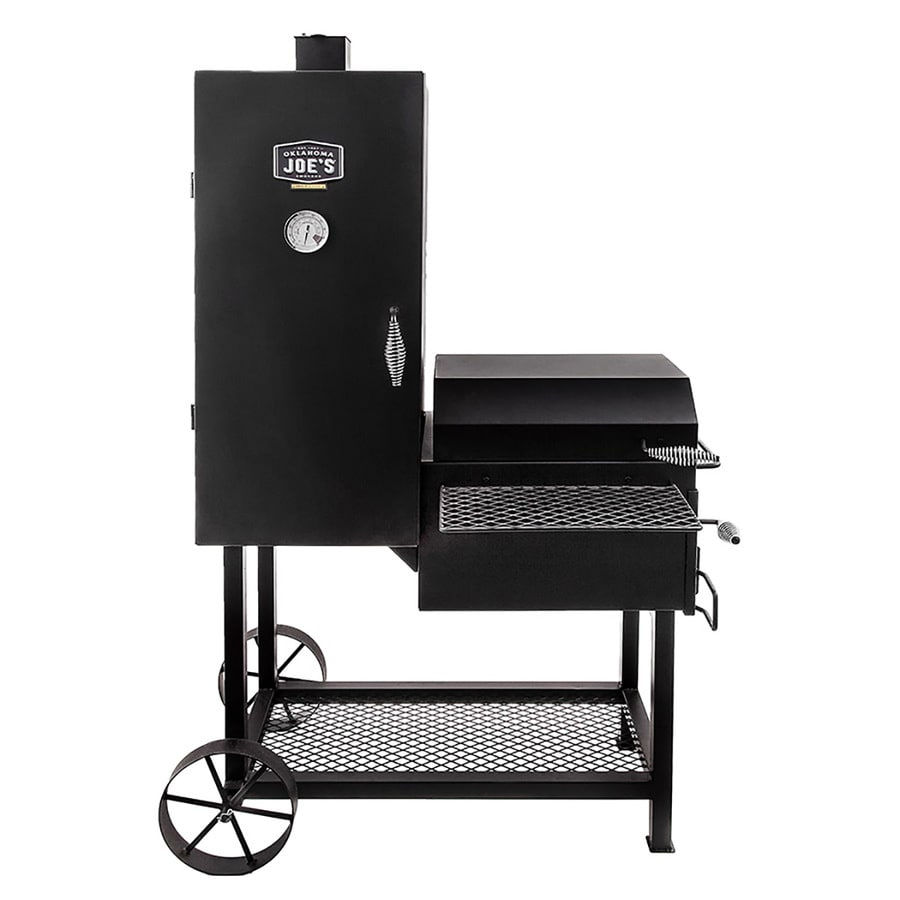 Oklahoma Joe's Bandera 63-in H x 39.25-in W 992-sq in Black Charcoal Vertical Smoker