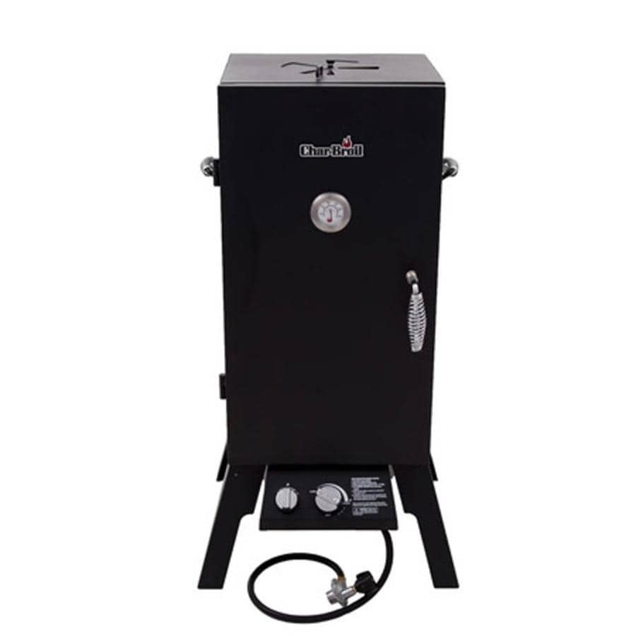 Char-Broil 20-Lb. Cylinder Piezo Ignition Gas Vertical Smoker (Common: 41.76-in; Actual: 41.76-in)