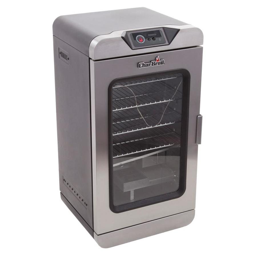 Char-Broil Digital Electric Smoker 750-Watt Black/Silver Electric Vertical Smoker with SmartChef Technology (Common: 32-in; Actual: 32.5-in)