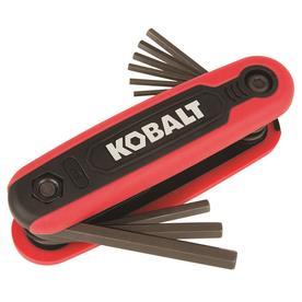 Kobalt Kobalt 9-key Standard (SAE) Folding Hex Key Set
