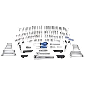 Kobalt 227-Piece Standard (SAE) and Metric Polished Chrome Mechanics Tool Set