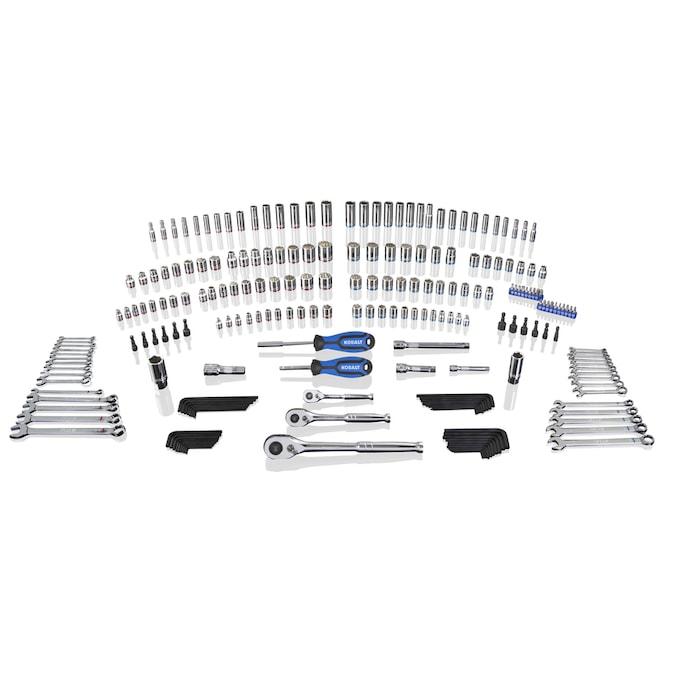 Kobalt 227-Piece Standard (SAE) and Metric Polished Chrome Mechanics Tool Set