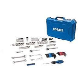 Kobalt 129-Piece Standard (SAE) and Metric Mechanics Tool Set with Hard