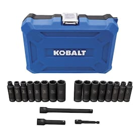 Kobalt 19pc 3/8-in Drive 6-Point Thin-Wall Impact Socket Set MM/SAE