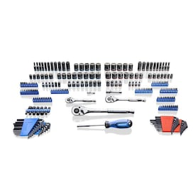 Kobalt 229-Piece Standard (SAE) and Metric Combination Polished Chrome Mechanics Tool Set