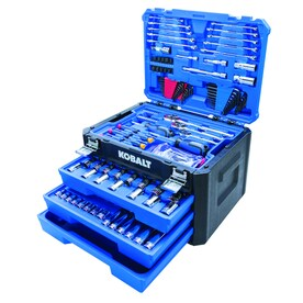 Kobalt 232-Piece Standard (SAE) and Metric Combination Polished Chrome Mechanics Tool Set
