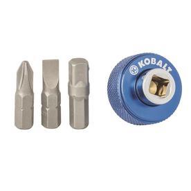 Kobalt 4-Piece 1/4-in Drive Phillips Flathead Driver Socket Set