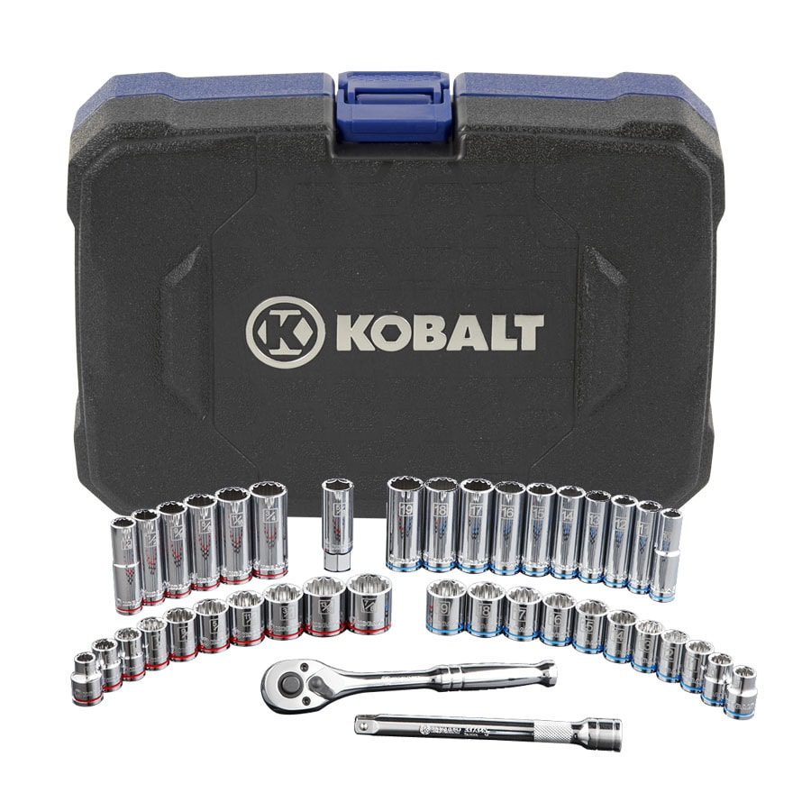 Kobalt 40-Piece Standard (SAE) and Metric Combination Mechanic's Tool Set