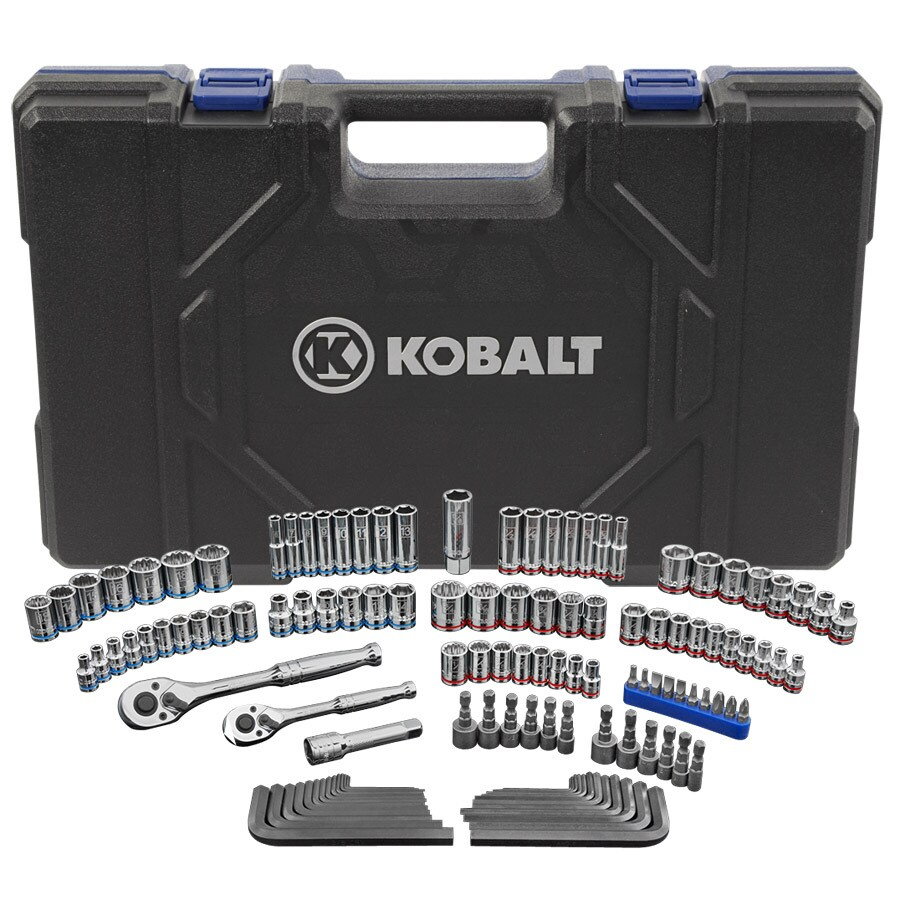 Kobalt 129-Piece Standard (SAE) and Metric Combination Mechanic's Tool Set