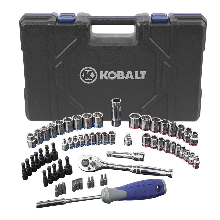Kobalt 63-Piece Standard/Metric Mechanics Tool Set with Case