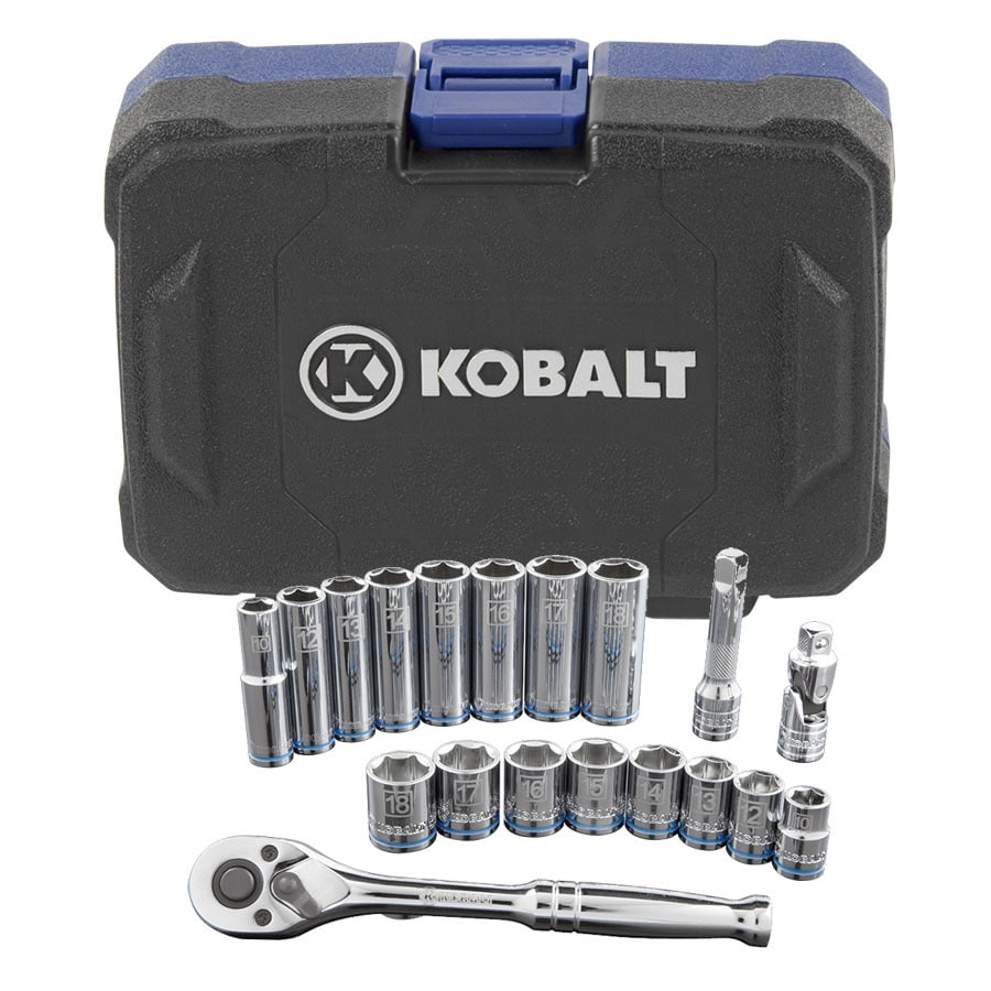 Kobalt 19-Piece Metric Mechanic's Tool Set with Hard Case