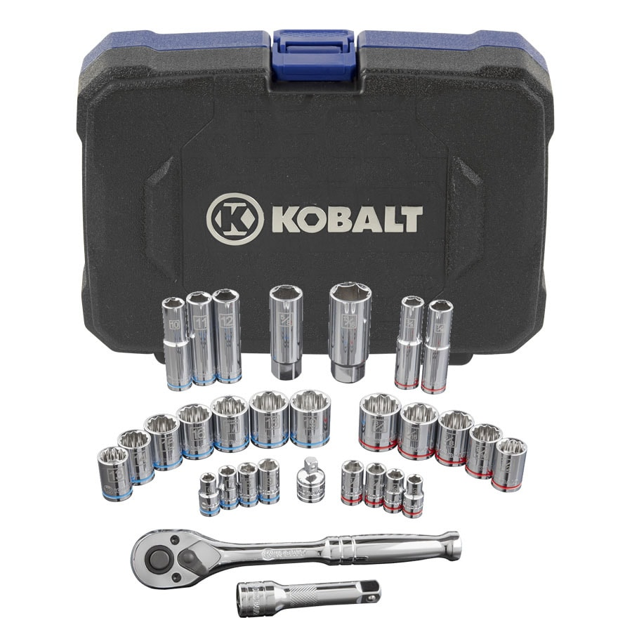Kobalt 30-Piece Standard (SAE) and Metric Mechanic's Tool Set with Hard Case