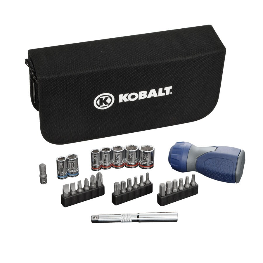 Kobalt 28-Piece Standard (SAE) and Metric Combination Mechanic's Tool Set