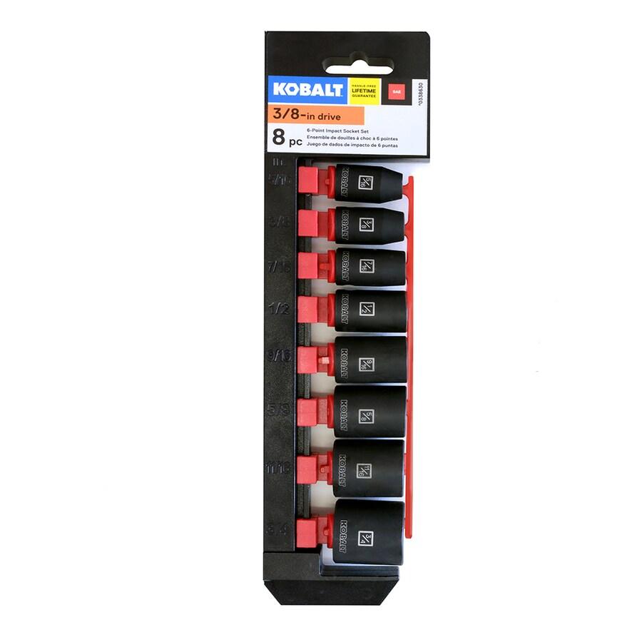 Kobalt 8-Piece Standard (SAE) 3/8-in Drive 6-Point Socket Set