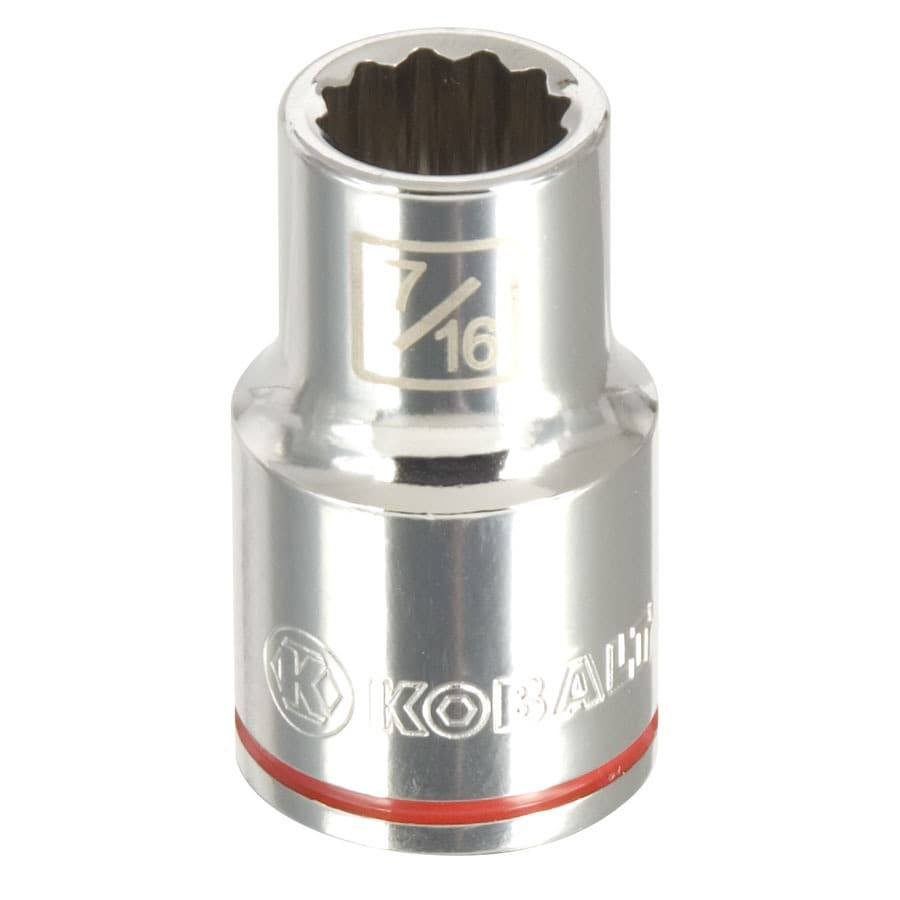 Kobalt 1/2-in Drive 7/16-in Shallow 12-Point Standard (SAE) Socket