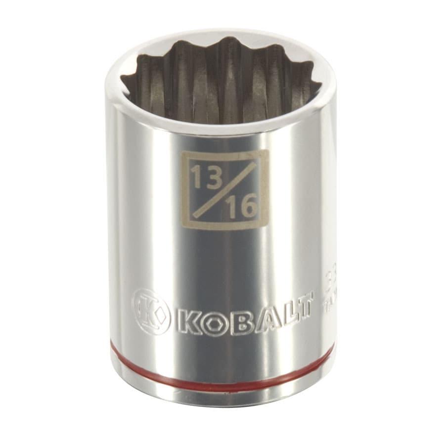 Kobalt 1/2-in Drive 13/16-in Shallow 12-Point Standard (SAE) Socket