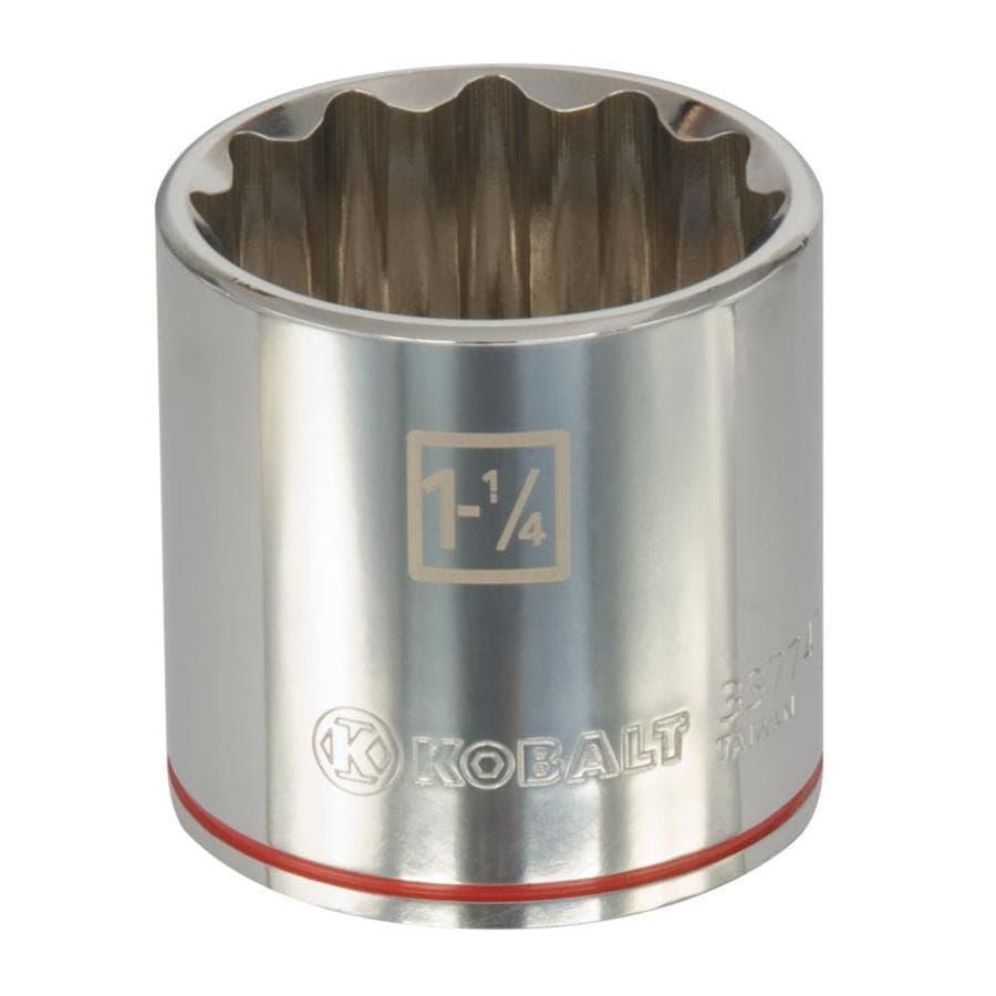 Kobalt 1/2-in Drive 1-1/4-in Shallow 12-Point Standard (SAE) Socket