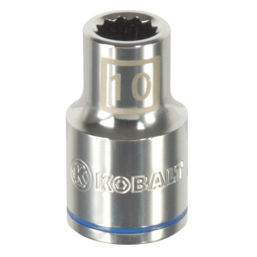 Kobalt 1/2-in Drive 10mm Shallow 12-point Metric Socket