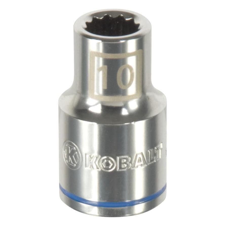 Kobalt 1/2-in Drive 10mm Shallow 12-Point Metric Socket