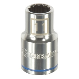 Kobalt Metric 1/2-in Drive 12-point 11mm Shallow Socket