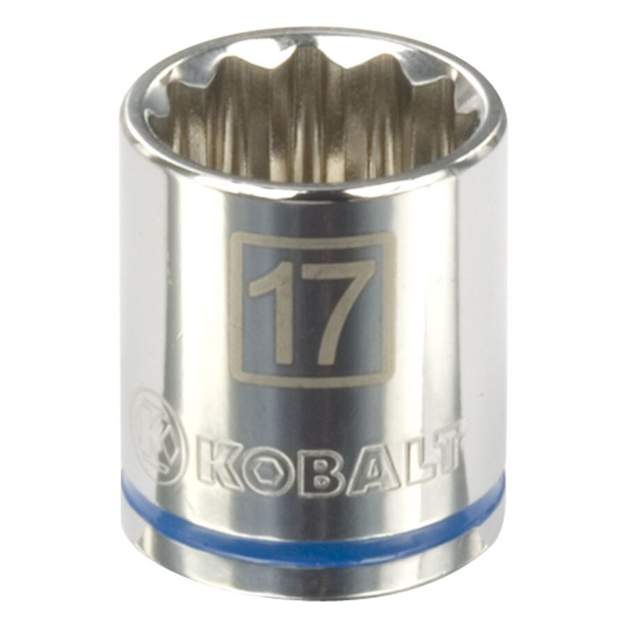 Kobalt 1/2-in Drive 17mm Shallow 12-Point Metric Socket