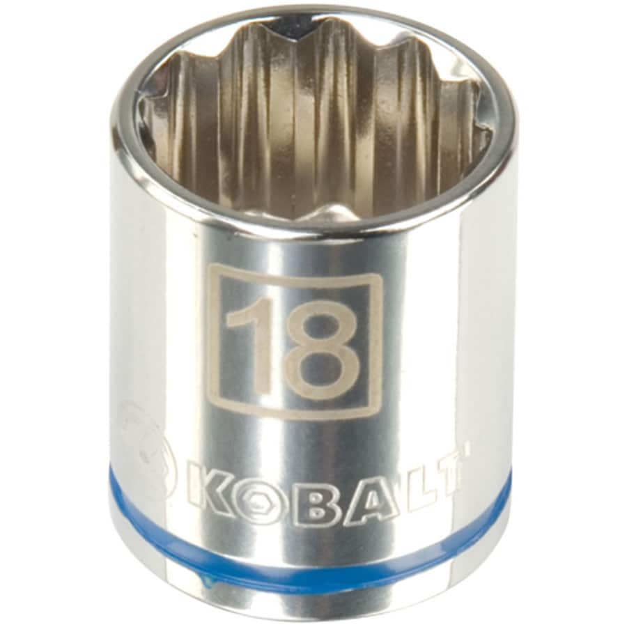 Kobalt 1/2-in Drive 18mm Shallow 12-Point Metric Socket