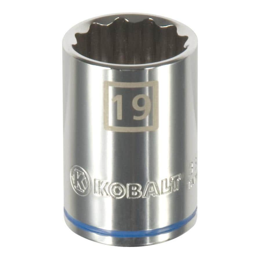 Kobalt 1/2-in Drive 19mm Shallow 12-Point Metric Socket