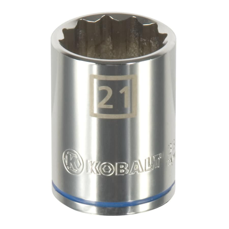 Kobalt 1/2-in Drive 21mm Shallow 12-Point Metric Socket