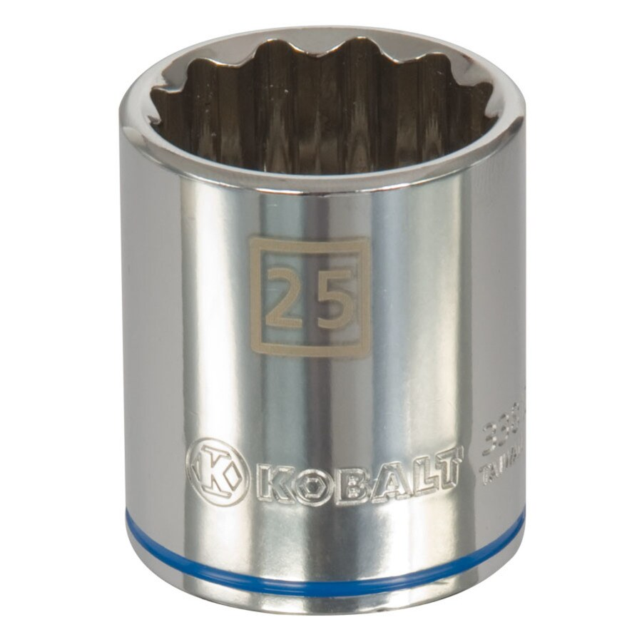 Kobalt 1/2-in Drive 25mm Shallow 12-Point Metric Socket