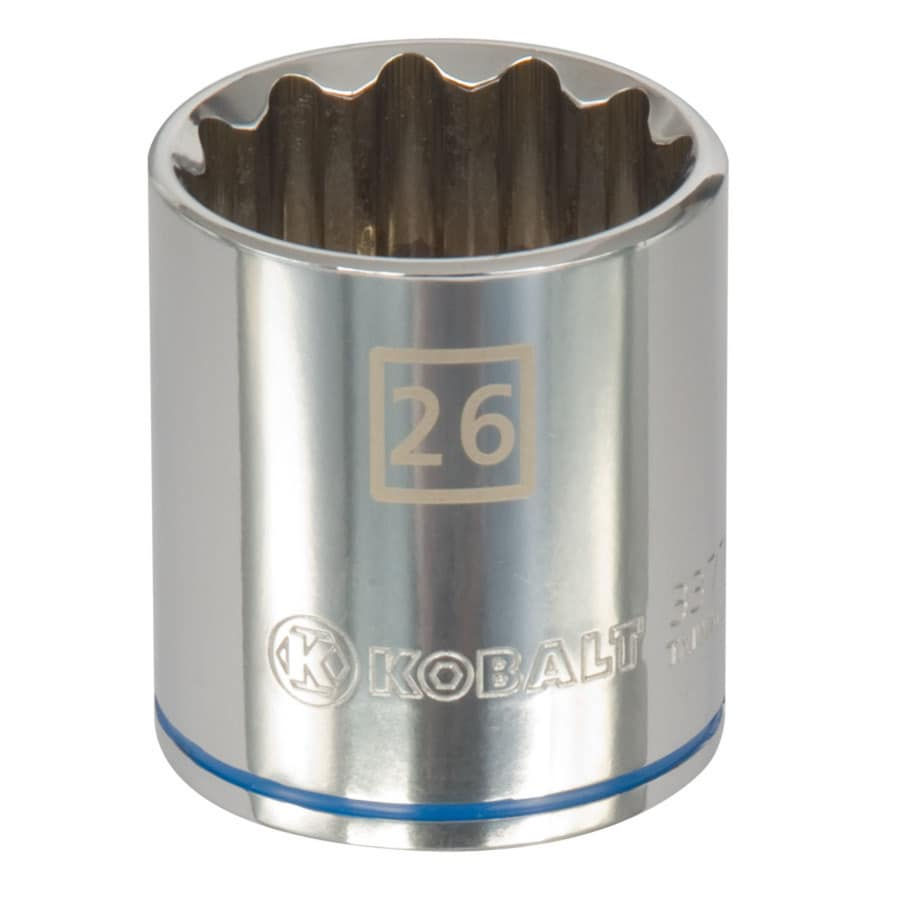 Kobalt 1/2-in Drive 26mm Shallow 12-Point Metric Socket