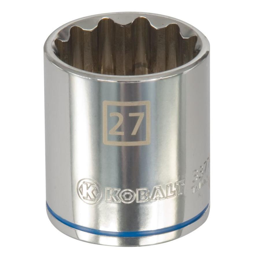 Kobalt 1/2-in Drive 27mm Shallow 12-Point Metric Socket