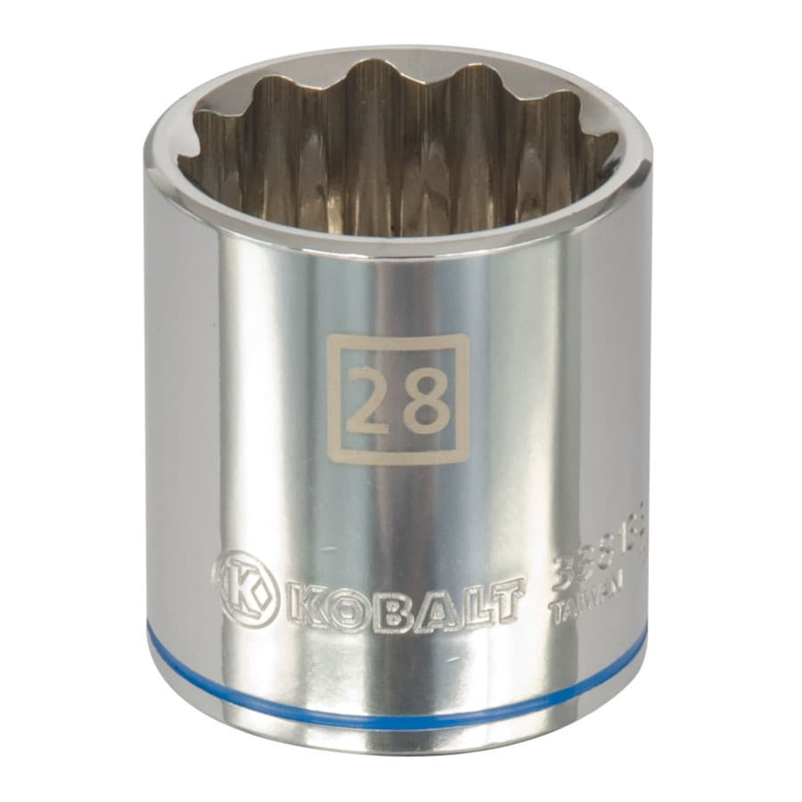 Kobalt 1/2-in Drive 28mm Shallow 12-Point Metric Socket