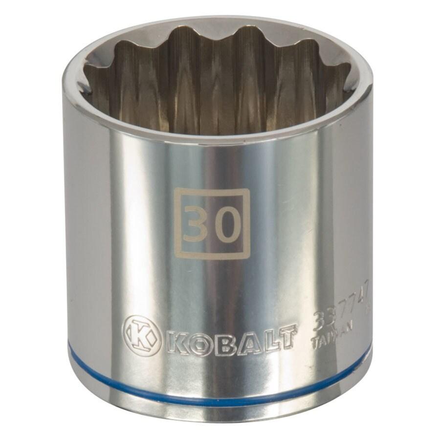 Kobalt 1/2-in Drive 30mm Shallow 12-Point Metric Socket