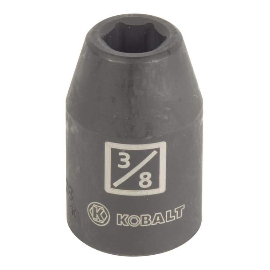Kobalt 1/2-in Drive 3/8-in Shallow Standard (SAE) Impact Socket